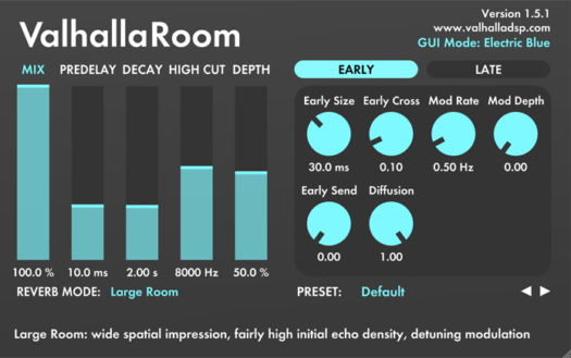 True Stereo Room Reverb Plugin | Valhalla DSP Plugins