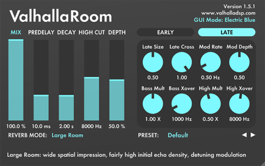 Best Room Reverb Digital Plugin | Valhalla DSP
