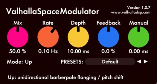 flanger digital audio plugin: space modulator | Valhalla DSP Plugins
