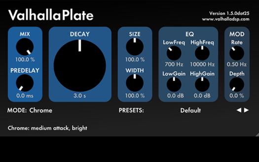 plate reverb plugin Valhalla plate