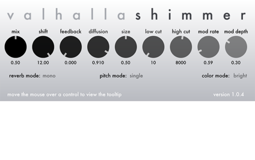pitchshifting reverb plugin Valhalla Shimmer