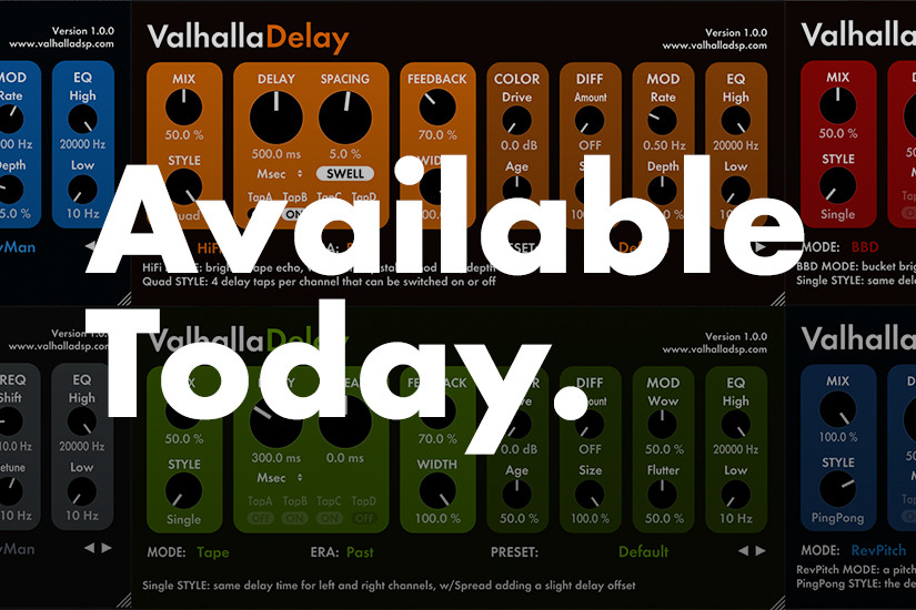 Digital Reverb & Delay Plugins | Valhalla DSP Plugins